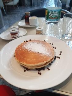 Pancake with chocolate fudge filling...Hmmm!
